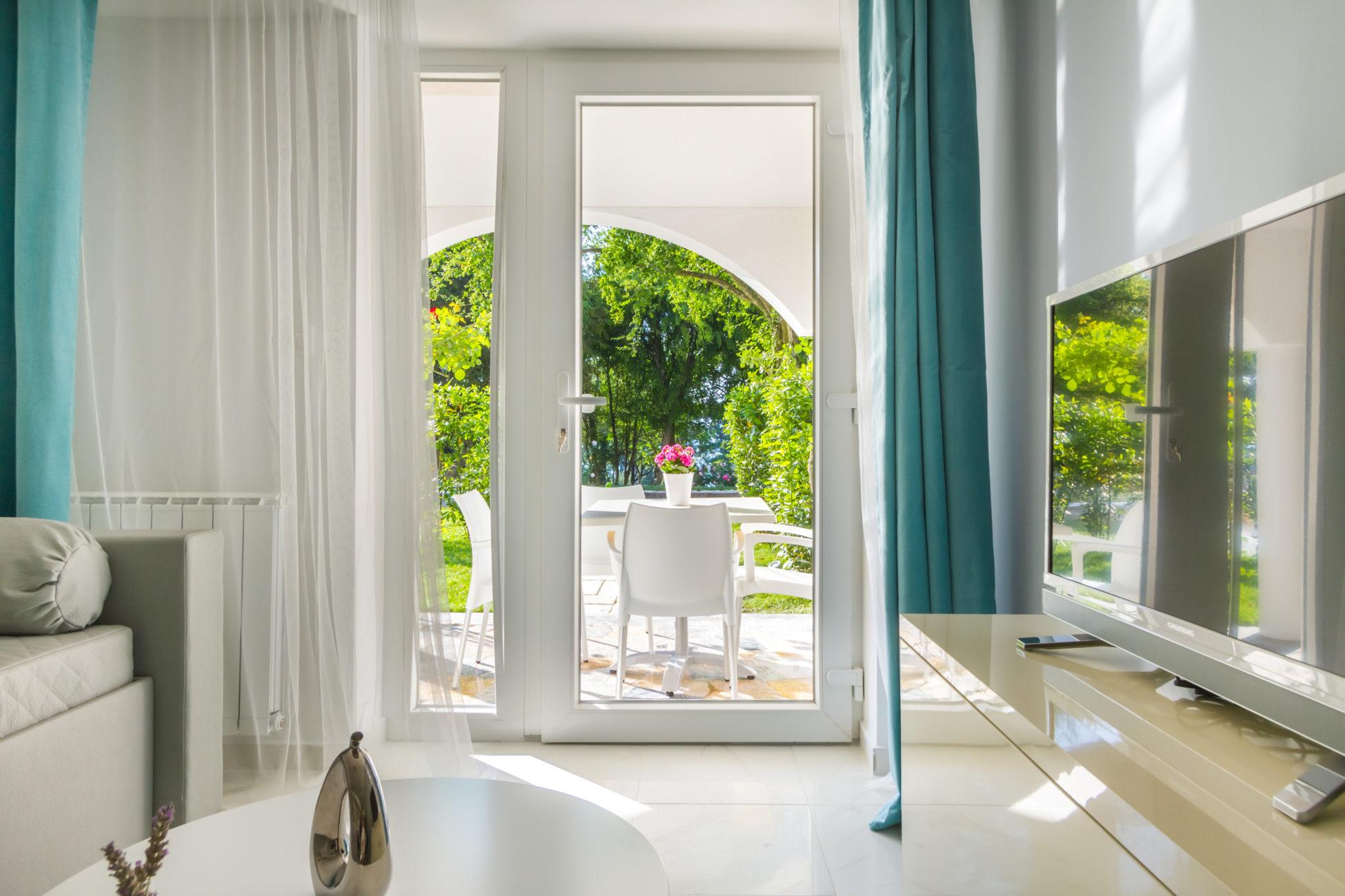 Suite famigliare con terrazza e giardino dell'albergo Malin
